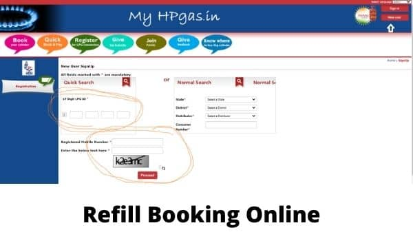 Refill Booking Online
