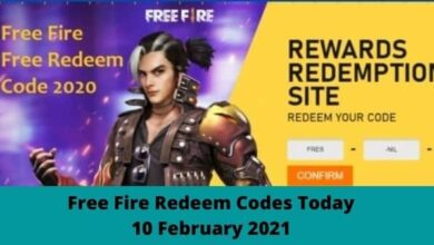 Free Fire रिडीम कोड आज 10 फरवरी 2021 | Free Fire Redeem Codes Today 10 February 2021, Garena FF Reward Full List Released, How to Redeem Free Fire Reward Code in reward.ff.garena.com - NewsWebEra